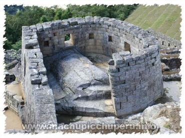 Machu Picchu, Peru - Temple of the Sun / Sun Temple